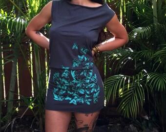 Insect Silkscreen Shift Dress