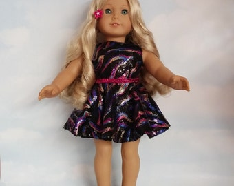 18 inch doll clothes - Colorful Sequin Dress made to fit the American Girl Doll - FREE SHIPPING