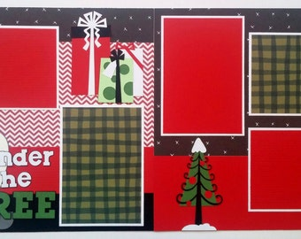 Christmas scrapbook page - Scrapbook page Christmas - 12x12 Christmas scrapbook - Premade Christmas scrapbook layout - 12x12 premade layout