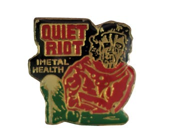 QUIET RIOT Metal Health vintage enamel pin cloisonne heavy metal 1980s