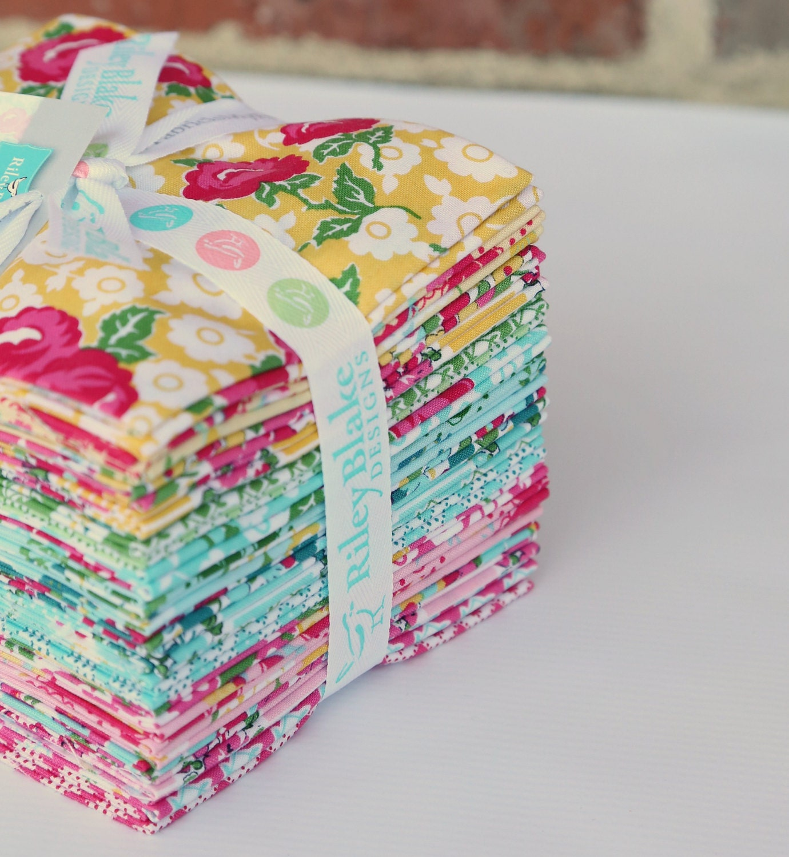 Fat Quarter Bundle - Dainty Darling Fabric by Lindsay Wilkes for Riley Blake Designs