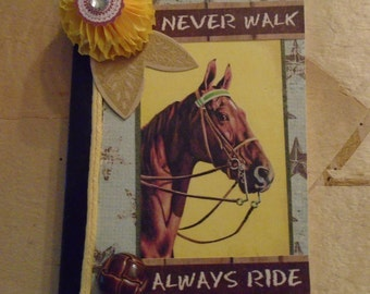 Horse Always Ride Rodeo Altered Mini Composition Book