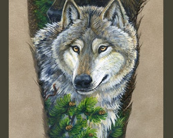 Wolf Mates Pack Feather Print