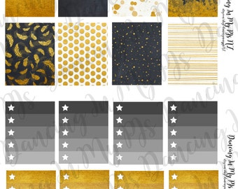 Burnt Gold Erin Condren Vertical Weekly Spread Six Sheet Kit