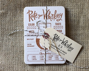 Rate Your Whiskey Coasters