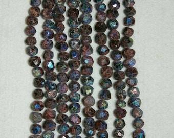 AB, AB Garnet, AB Rough Garnet, Faceted Garnet Bead, Rough Garnet Bead, Natural Stone, Semi Precious, Half Strand, 8-9 mm, AdrianasBeads
