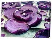LE Deep Canvas Wrap Giclee Fine Art Print of Original Modern Art Impasto Painting 'Purple Poetry' Amber Lamoreaux Contemporary Purple Flower