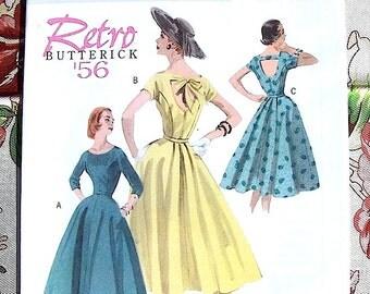Butterick Retro 1956 Dress Pattern Reprint