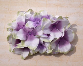Beautiful cream lilac hydrangea hair comb vintage rockabilly style wedding 40s 50s pin up bride hairflower haircomb boho