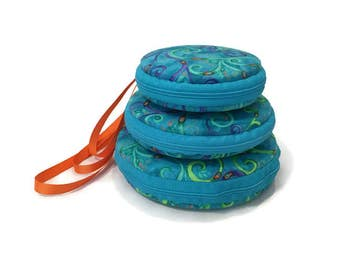 Peacock Macaron Wristlet Clutch Wallet Large Medium Small or Kit - The Mayil