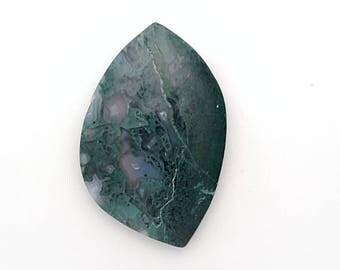 Moss Agate Cabochon ~ Agate Cabochon ~ Designer Cabochon ~ Green Moss Agate ~ Gemstone Cabochon ~ Natural Stone ~ Jewelry Making