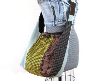 Crossbody Hobo Bag for Women - Oversized Bag - Over Shoulder Bag - Crossbody Purse - Boho Bag - Slouch Bag - Bohemian Bag - Patchwork Bag