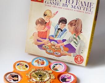 Vintage Barbie Doll Keys to Fame Board Game Mattel 1963 Complete
