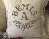 Vintage Grain Sack Bemis Pillow Cover by Gathered Comforts