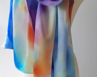 Made to Order: Hand Painted Silk Sarong - Watercolor Inspired