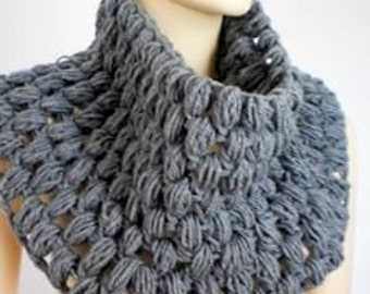 Chunky Cowl Neckwarmer Crochet  Cowl Capelet Women Men Fashion Accessories Clothing Accessories Gift Ideas Free Shipment