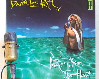"""ON SALE David Lee Roth (Van Halen) 4-song EP 1980s Pop Camp Retro Standards Fun Clowning Lp, """"Eat 'Em And Smile""""(1986 Wb Records w/""""Just A G"""