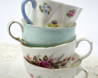Mismatched English Bone China Tea Cups Replacement China Tea Parties