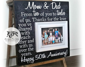 50th anniversary gifts gifts for parents picture frame 16x16 the sugared plums