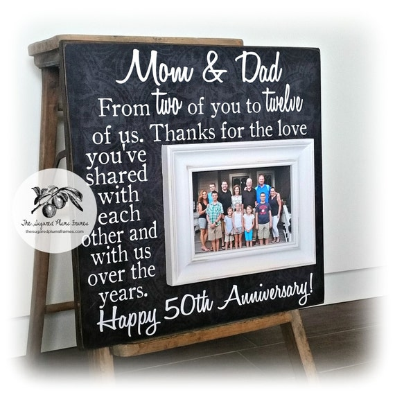 Gift Ideas For 50th Wedding Anniversary For Parents: 50th Anniversary Gifts Gifts For Parents Personalized