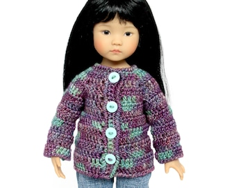 "Download Now - CROCHET PATTERN 13"" Little Darling Doll Alli Sweater"
