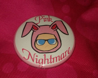 Pink Nightmare Christmas Story 2.25 Bunny Pinback Button