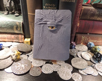 Mythical Beast Book (Mini notebook Blue  leather with Yellow eye)