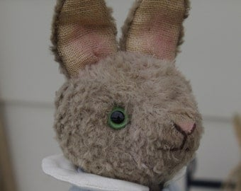 Hampton Bears, Timmy, antique old style Artist Bunny. Partly jointed  viscose rabbit.