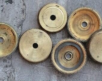 Vintage alarm clock going barrels -- parts -- set of 6 -- D9
