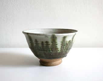 SALE Green Drip Studio Bowl