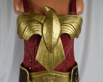 Wonder Woman Corset, Breast Plate & Belt Costume