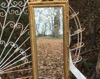 Ornate mirror,Seashell Mirror, accent mirror,Gold Mirror