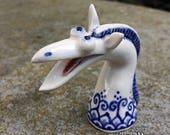 Monster - hand sculpted porcelain ceramic buddy desk pet collectable