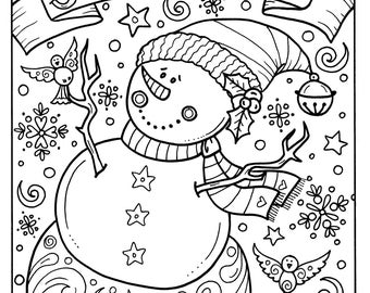 Instant coloring page christmas coloring fun camel christian snowman joy to the world digital download christmas coloring adult holidays animals publicscrutiny Gallery