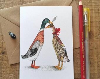 Runner Ducks // Greeting Card