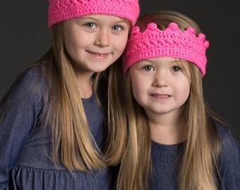 Prince Crown- Princess Crown- Princess Crown Headband- Birthday Crown- Photo Prop- Crochet Headband- Birthday Outfit