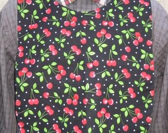Cherries Adult Bib