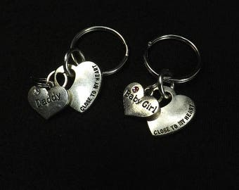 DDLG gift key chains Baby Girl Daddy Dom Close to my heart key chains mature bdsm gift set