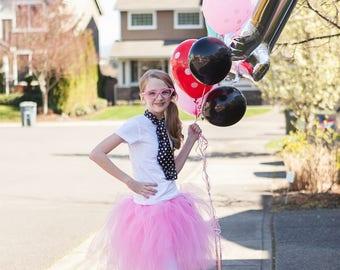 Pink Poodle Skirt | Poodle Skirt | Pink Poodle Tutu | Pink Tutu | 50s Poodle Skirt | Sock Hop | Poodle Skirt Girls | Girls Poodle Skirt