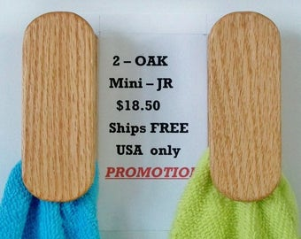 Promotion Specials   2  mini  JR Magic towel holder wall mount towel hook hanger 3 M tape rear stick any place Ship Free all USA locations