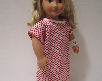 """Red Heart Hospital Gown for 18"""" doll."""