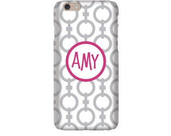 Monogram iPhone 7 Plus * 7 * 6/6S Plus * 6/6S * SE premium chain phone case personalized with name or initials