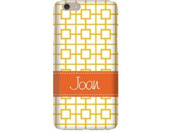 Monogram iPhone 7 Plus * 7 * 6/6S Plus * 6/6S * SE premium squares reverse phone case personalized with name or initials