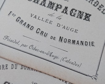 Batch 10 gorgeous antique French gently timeworn sepia hues champagne labels c1880