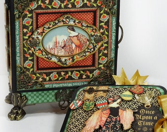 Graphic 45 Enchanted Forest Decorative Box with Mini Album TUTORIAL