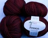 11 balls Wool Blend Trendsetter Yarn Fresco Deep Red