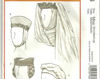 McCalls 4806 COSTUME pattern Historical Renaissance Head wear Hats S-M-L Uncut
