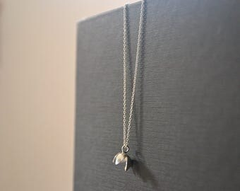 flower short necklace sterling silver - MOGNO Collection