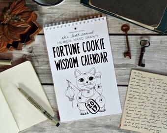 2017 Fortune Cookie Wisdom Calendar, 2017 Calendar, 2017 Wall Calendar, Desk calendar, Gifts for co workers, Christmas gifts, Teacher gifts