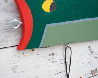 Fishing Lure Sign, Fishing Lure Wall Decor, Large Fishing Lure, Lake house decor, Vintage Fishing